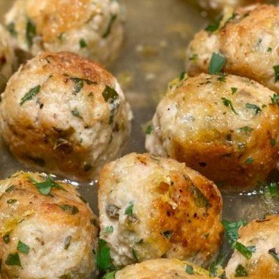 chicken piccata meatballs