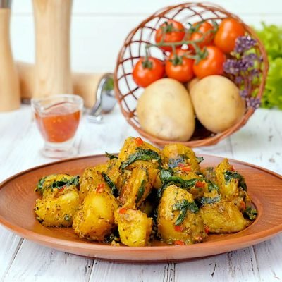 potatoes with spinach