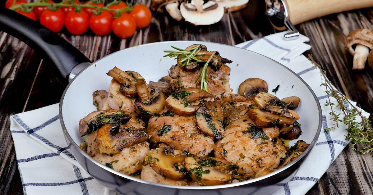 Garlic Mushroom Chicken Thighs
